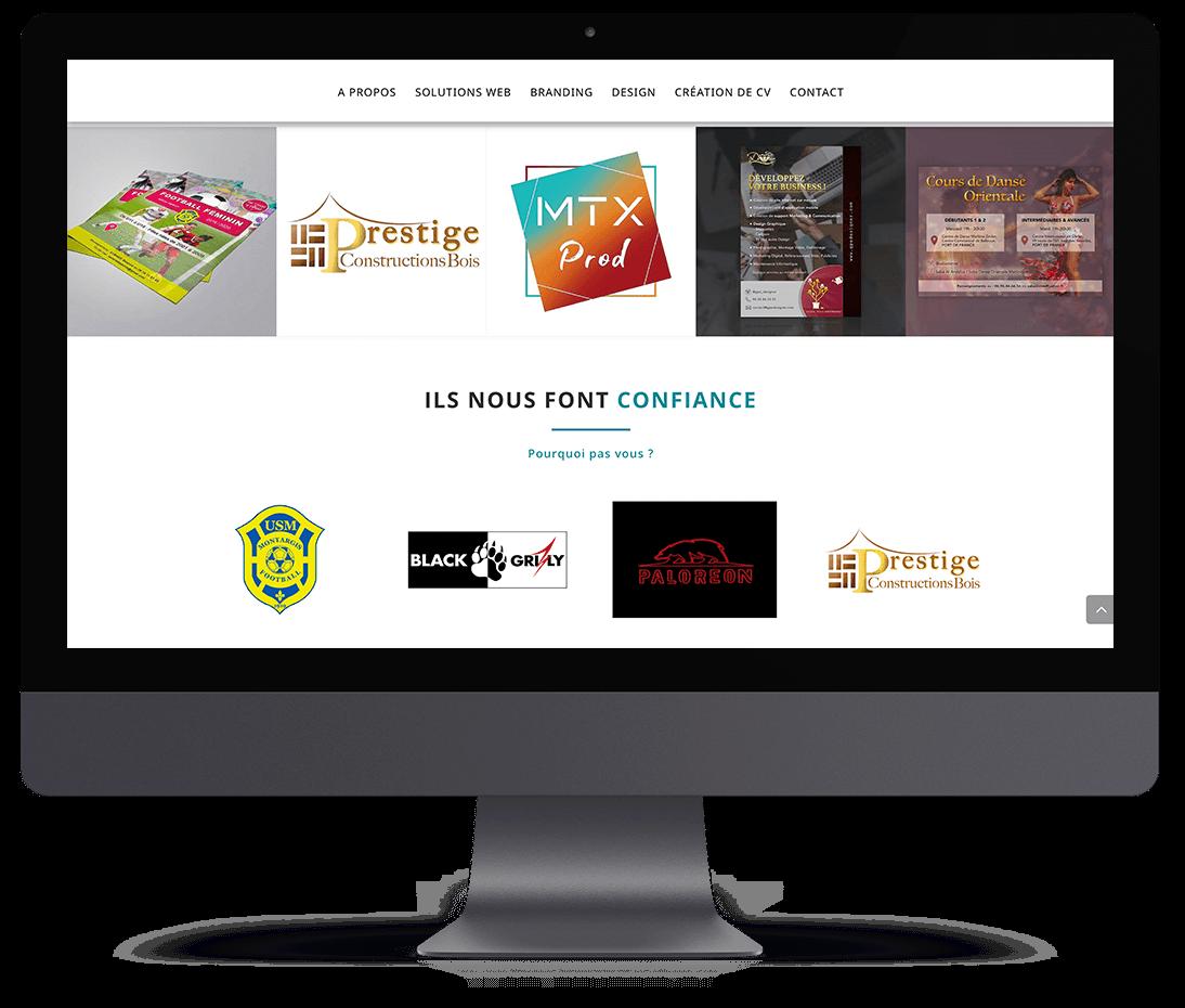 Mockup du site web Gpe Designer